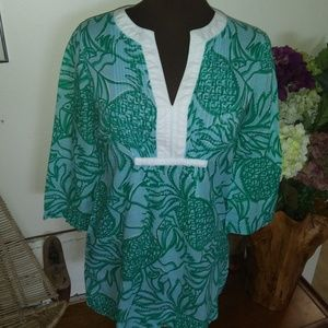 LILLY PULITZER PINEAPPLE AND TOUCAN TUNIC TOP